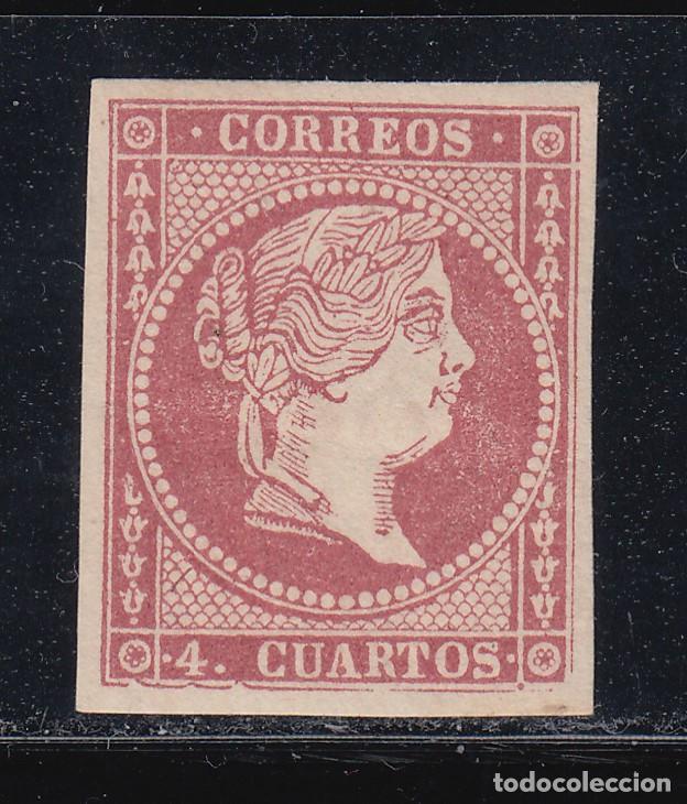 ERROR (VARIEDAD) EDIFIL 48BA* NUEVO CON CHARNELA. TIPO III. 1855. -LEER DESCRIPCION- ISABEL II (220) (Sellos - España - Isabel II de 1.850 a 1.869 - Nuevos)