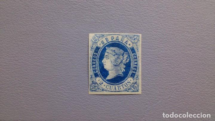 ESPAÑA-1862- ISABEL II - EDIFIL 57 - MH* - NUEVO - LUJO - VARIDAD CALCADO AL DORSO - VALOR CAT. 150€ (Sellos - España - Isabel II de 1.850 a 1.869 - Nuevos)