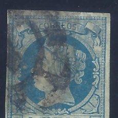 Sellos: EDIFIL 55 ISABEL II. AÑO 1860.MATASELLOS RUEDA DE CARRETA. VALOR CATÁLOGO: 16 €.. Lote 198485651