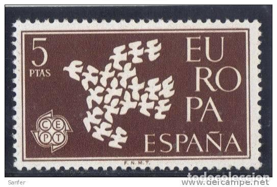 ESPAÑA 1961 - EDIFIL 1372 ( NUEVOS ) (Sellos - España - Isabel II de 1.850 a 1.869 - Nuevos)