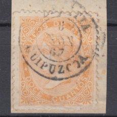 Sellos: ESPAÑA SPAIN ESPAGNE SPANIEN ISABEL II EDIFIL 89 AZPEITIA GUIPUZCOA GIPUZKOA 1867. Lote 198946737