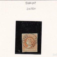 Sellos: ISABEL II - NUM. 52 MATASELLOS FECHADOR DE ZAFRA - BADAJOZ-. Lote 199063071