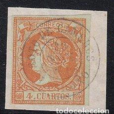 Sellos: ISABEL II - NUM. 52 MATASELLOS FECHADOR DE SOTO DE CAMEROS - LOGROÑO -. Lote 199072491
