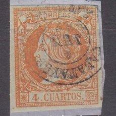 Sellos: ISABEL II - NUM. 52 MATASELLOS FECHADOR DE CALATAYUD - ZARAGOZA -. Lote 199073715