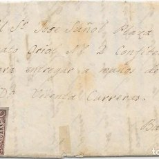 Sellos: GERONA. EDIFIL Nº 58. ENVUELTA DE TORROELLA DE MONTGRIU A BARCELONA. 1863. Lote 199225116
