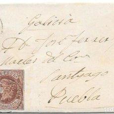 Sellos: GERONA. EDIFIL Nº 58. ENVUELTA DE BLANES A PUEBLA. 1863. Lote 199225637