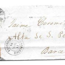 Sellos: BARCELONA. EDIFIL Nº 64. ENVUELTA DE MONTBLANCH A BARCELONA. 1864. Lote 199227741