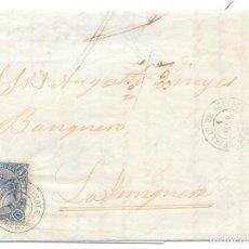 Sellos: GERONA. EDIFIL Nº 75. ENVUELTA DE SAN FELIU DE GUIXOLS A LA JUNQUERA. 1865. Lote 199230161