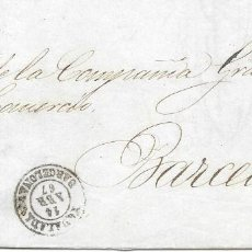Sellos: BARCELONA. EDIFIL Nº 88. ENVUELTA DE SABADELL A BARCELONA. 1867. Lote 199230517