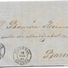 Sellos: GERONA. EDIFIL Nº 81. ENVUELTA DE FIGUERAS A BARCELONA. 1866. Lote 199232087