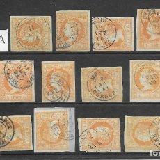 Sellos: ANDALUCIA. EDIFIL Nº 52. LOTE DE 27 FECHADORES DE LOCALIDADES DIFERENTES. Lote 199235223