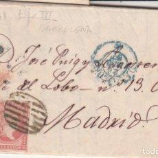 Sellos: CARTA COMPLETA CON SELLO NUM. 48 TIPO III - BARCELONA 1857. Lote 199305265