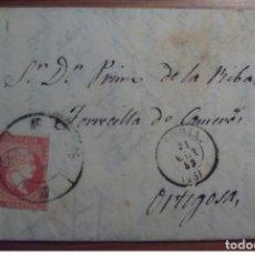 Sellos: ESPAÑA ISABEL II 1859 SORIA RUEDA CARRETA 45 ESPEJA SELLO 48 BORDE DE HOJA. Lote 199698522