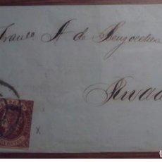 Sellos: ESPAÑA 1862 CADIZ RIVADEO ISABEL II DOBLE PORTE EDIFIL 58 RUEDA CARRETA 3. Lote 199710728