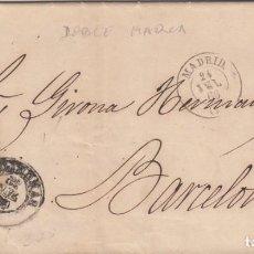 Sellos: CARTA COMPLETA CON SELLO NUM. 81 FECHADOR DE MADRID 1866 -DOBLE MARCA SOBRE EL SELLO. Lote 199737636