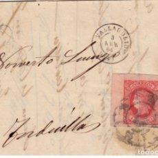 Sellos: ESPAÑA ISABEL II 1864 ISABEL II VALLADOLID RUEDA CARRETA EDIFIL 64 ESQUINA PLIEGO. Lote 199740372