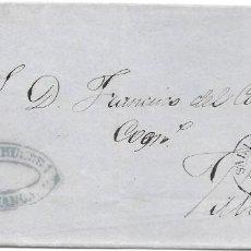 Sellos: SALAMANCA. RUEDA DE CARRETA Nº 40. EDIFIL 48. ENVUELTA DE SALAMANCA A VALLADOLID. 1859. Lote 199766836