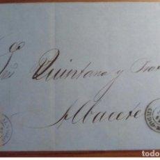 Sellos: ESPAÑA ISABEL II 1862 ALMAGRO CIUDAD REAL EDIFIL 58 CASTILLA LA MANCHA. Lote 199806152