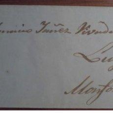 Sellos: ESPAÑA ISABEL II 1857 ORENSE MONFORTE DE LEMOS LUGO GALICIA PARRILLA EDIFIL 48. Lote 199808146