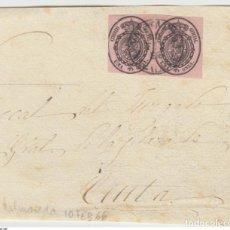 Sellos: ESPAÑA VALMASEDA VIZCAYA BIZKAIA SERVICIO NACIONAL ISABEL II 1866 A CEUTA EDIFIL 36. Lote 200019285
