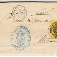 Selos: ESPAÑA CARTA ISABEL II SERVICIO NACIONAL ESTELLA NAVARRA 1862 JUZGADO EDIFIL 35. Lote 200021765