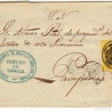 Sellos: ESPAÑA ISABEL II SERVICIO NACIONAL TAFALLA NAVARRA 1861 EDIFIL 35 . Lote 200022018