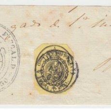 Sellos: ESPAÑA ISABEL II SERVICIO NACIONAL DURANGO VIZCAYA BIZKAIA 1865 FRAGMENTO FRONTAL EDIFIL 35. Lote 200022217