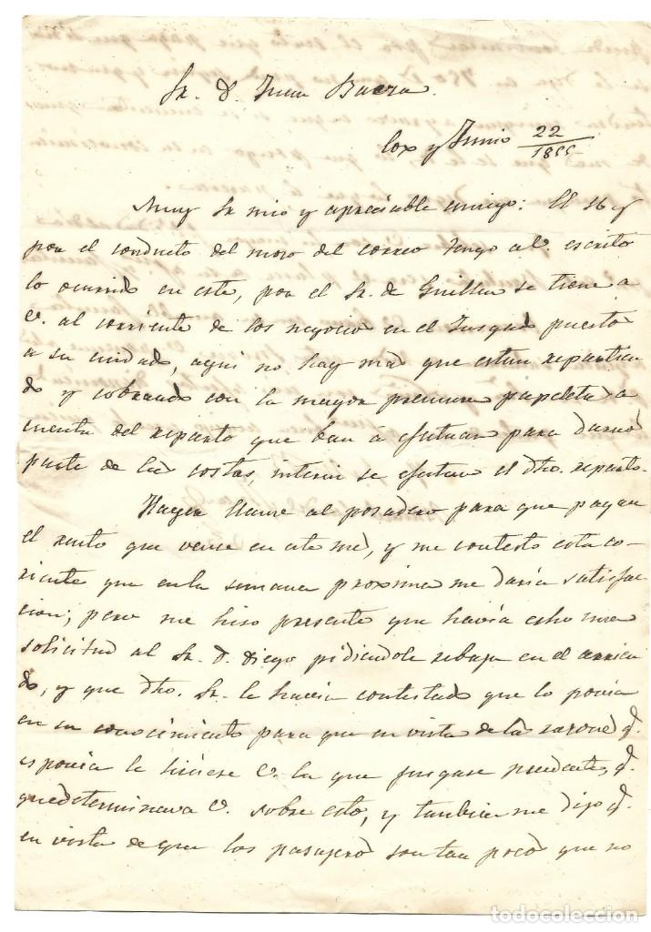 Sellos: ENVUELTA CIRCULADA DE ORIHUELA (ALICANTE) A MURCIA SELLO 4 CUARTOS 1855 MATASELLO PARRILLA - Foto 4 - 200043093