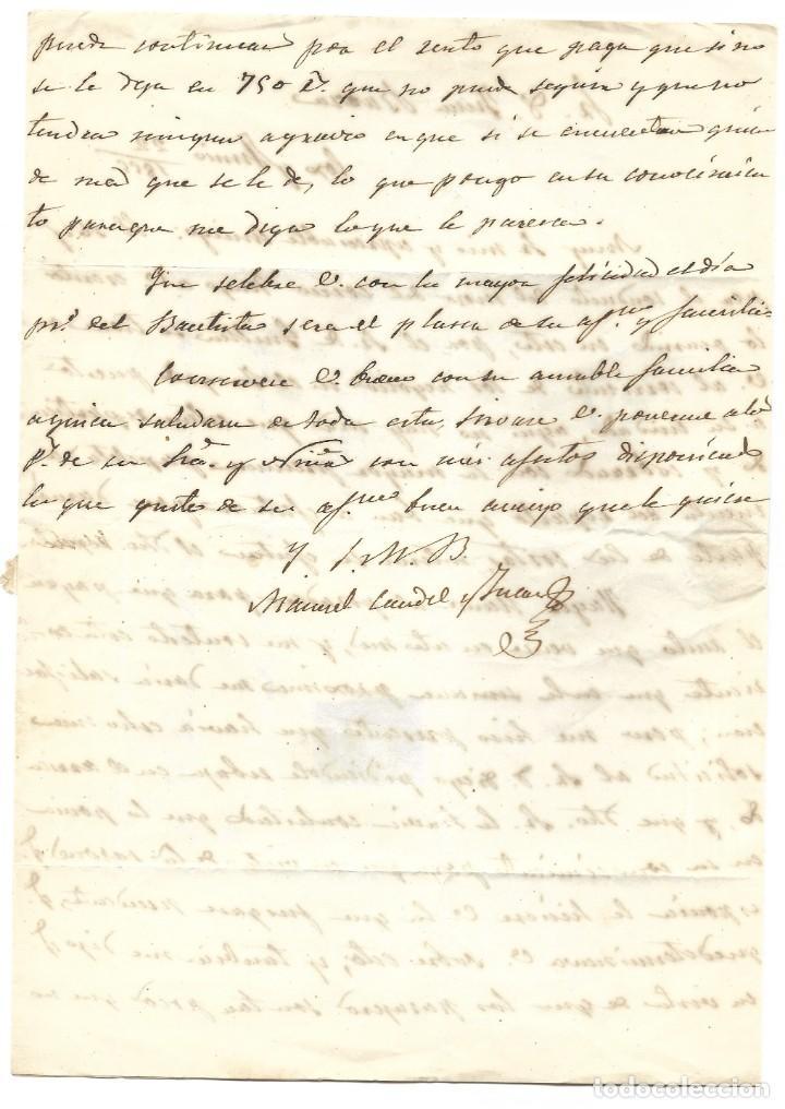 Sellos: ENVUELTA CIRCULADA DE ORIHUELA (ALICANTE) A MURCIA SELLO 4 CUARTOS 1855 MATASELLO PARRILLA - Foto 5 - 200043093