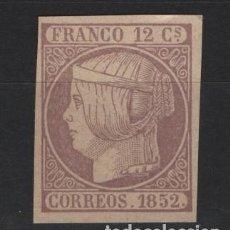 Sellos: TV_003/ ISABEL II, S/D, ESPAÑA ( FANTASIA) NUEVO** (FALSO). Lote 239827705