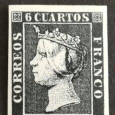 Sellos: ESPAÑA N°1 MNH, SELLO FALSO (FOTOGRAFÍA REAL). Lote 200335861