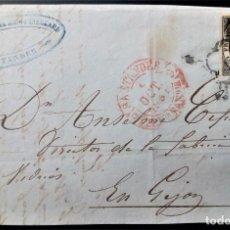 Timbres: ESPAÑA ISABEL II 1851 SANTANDER CANTABRIA BAEZA ARAÑA NEGRA EDIFIL 6 FRONTAL. Lote 200724767