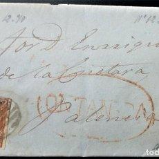 Sellos: ISABEL II TORANZO ALCEDA ONTANEDA PREFILATÉLICA PREFILATELIA CANTABRIA 1853 EDIFIL 12 PARRILLA LUJO. Lote 202364025