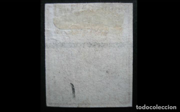 Sellos: ESPAÑA - 1854 - ISABEL II - EDIFIL 33A - MH* - NUEVO - VARIEDAD MUESTRA - LUJO. - Foto 2 - 202659718