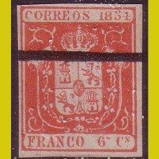 Sellos: BARRADOS 1854 ESCUDO DE ESPAÑA, EDIFIL Nº 24M (*). Lote 203082337
