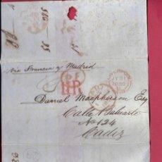 Sellos: LIVERPOOL- CADIZ VÍA FRANCIA. AÑO 1850.. Lote 203635958