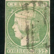 Sellos: ESPAÑA 1852 EDIFIL 15 MARQUILLADO A. ROIG - 18/28. Lote 203825736