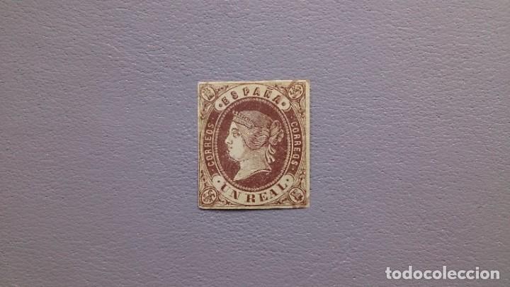 ESPAÑA-1862 - ISABEL II - EDIFIL 61 - MH* - NUEVO COM GOMA - CASI INAPRECIABLE CRUZ DE TINTA A PLUMA (Sellos - España - Isabel II de 1.850 a 1.869 - Nuevos)