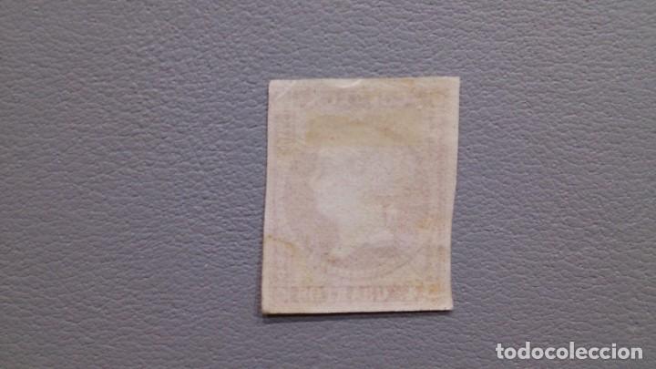 Sellos: ESPAÑA - 1855 - ISABEL II - EDIFIL 48 - MH* - NUEVO - VALOR CATALOGO 215€. - Foto 2 - 204058940