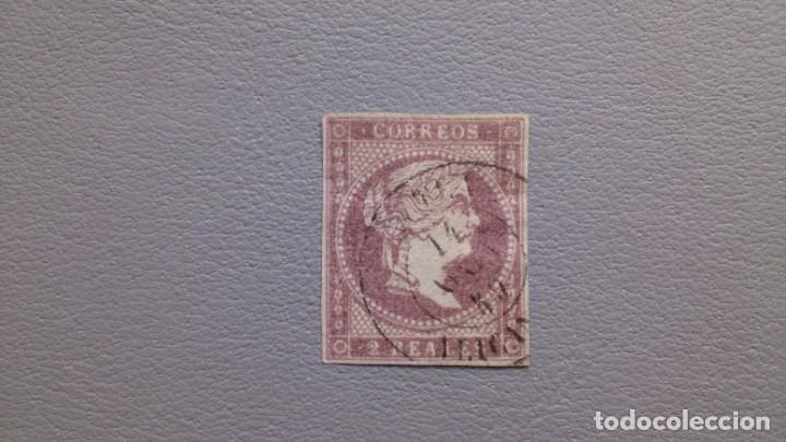 ESPAÑA - 1855 - ISABEL II - EDIFIL 50 - MATASELLOS FECJADOR - VALOR CATALOGO 55€. (Sellos - España - Isabel II de 1.850 a 1.869 - Usados)