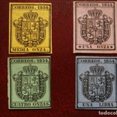 Sellos: PRIMER CENTENARIO-1854 NUEVOS - SERIE COMPLETA ESCUDO DE SPAÑA - ISABEL II -EDIFIL 28/31.. Lote 204186653