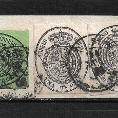 Sellos: ESPAÑA 1855 EDIFIL 36/37 USADO TARRAGONA - 15/48. Lote 204393501
