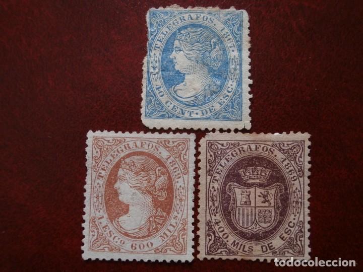 PRIMER CENTENARIO TELEGRAFOS - ISABEL II - 1867-1869 - EDIFIL -Nº-18-28- ESCUDO ESPAÑA- Nº-30 (Sellos - España - Isabel II de 1.850 a 1.869 - Nuevos)
