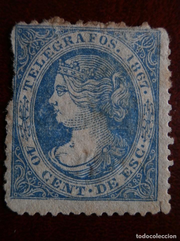 Sellos: PRIMER CENTENARIO TELEGRAFOS - ISABEL II - 1867-1869 - EDIFIL -Nº-18-28- ESCUDO ESPAÑA- Nº-30 - Foto 2 - 204689203