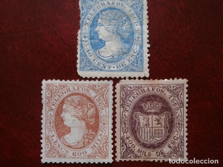 Sellos: PRIMER CENTENARIO TELEGRAFOS - ISABEL II - 1867-1869 - EDIFIL -Nº-18-28- ESCUDO ESPAÑA- Nº-30 - Foto 8 - 204689203