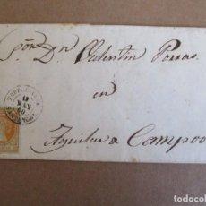 Sellos: CIRCULADA Y ESCRITA 1860 DE TORRELAVEGA SANTANDER A AGUILAR DE CAMPOO PALENCIA. Lote 204692406