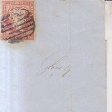 Sellos: AÑO 1855 EDIFIL 44 ISABEL II FRONTAL MATASELLOS REJILLA. Lote 204704388