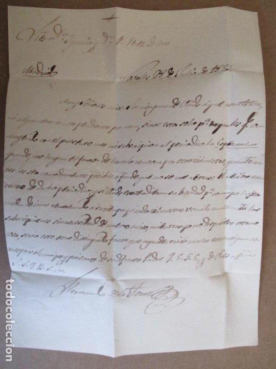 Sellos: circulada Y ESCRITA 1859 DE torrelavega santander a MADRID - Foto 2 - 204714365