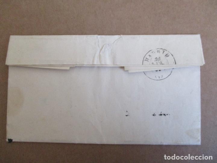Sellos: circulada Y ESCRITA 1859 DE torrelavega santander a MADRID - Foto 3 - 204714365