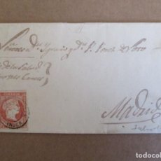Sellos: CIRCULADA Y ESCRITA 1859 DE TORRELAVEGA SANTANDER A MADRID. Lote 204714365